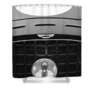 1952 Aston Martin Db3 Sports Hood Emblem Shower Curtain by Jill Reger