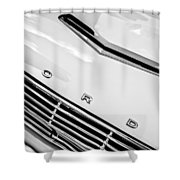 1963 Ford Falcon Futura Convertible Hood Emblem Shower Curtain by Jill Reger