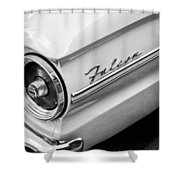 1963 Ford Falcon Futura Convertible Taillight Emblem Shower Curtain by Jill Reger