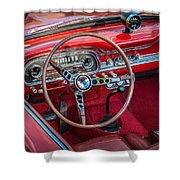1963 Ford Falcon Sprint Convertible  Shower Curtain by Rich Franco