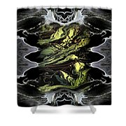 Abstract 51 Shower Curtain by J D Owen