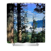 Altay Lakes Teletskoe Shower Curtain by Anonymous