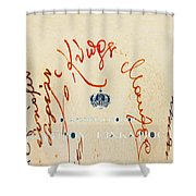 Archbishop Makarios  Autograph Shower Curtain by Augusta Stylianou