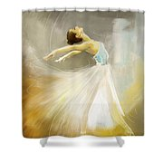 Ballerina  Shower Curtain by Corporate Art Task Force