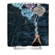 balloons Shower Curtain by Joana Kruse