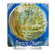 Barack Obama Star Shower Curtain by Augusta Stylianou