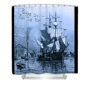Blame It On The Rum Schooner Shower Curtain by John Stephens