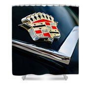 Cadillac Emblem Shower Curtain by Jill Reger