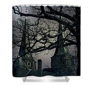 Castle Shower Curtain by Joana Kruse