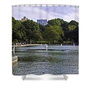 Central Park Pond Shower Curtain by Madeline Ellis