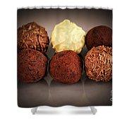 Chocolate Truffles Shower Curtain by Elena Elisseeva