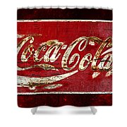 Coca Cola Sign Cracked Paint Shower Curtain by John Stephens