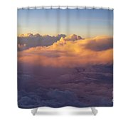 Colorful Clouds Shower Curtain by Brian Jannsen