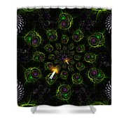 Cosmic Embryos Shower Curtain by Shawn Dall