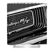 Dodge Challenger Rt Grille Emblem Shower Curtain by Jill Reger