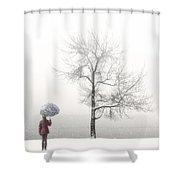 Girl With Umbrella Shower Curtain by Joana Kruse