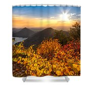 Golden Hour Shower Curtain by Debra and Dave Vanderlaan