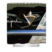 Lincoln Capri Emblem Shower Curtain by Jill Reger