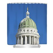 Maine State Capitol Building In Augusta Shower Curtain by Keith Webber Jr