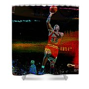 Michael Jordon Shower Curtain by Marvin Blaine