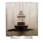 Old Orchard Lighthouse Shower Curtain by Skip Willits