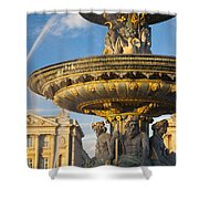 Paris Fountain Shower Curtain by Brian Jannsen