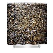 Rocks In Water Shower Curtain by Elena Elisseeva