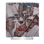 'the Night Before Christmas Shower Curtain by Arthur Rackham