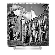 Tower Of London Shower Curtain by Elena Elisseeva