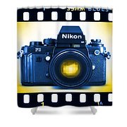 35mm Blues Nikon F-3hp Shower Curtain by Mike McGlothlen