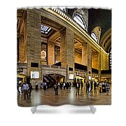 360 Panorama of Grand Central Station Shower Curtain by David Smith