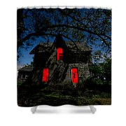 3am At The Farmhouse  Shower Curtain by Cale Best