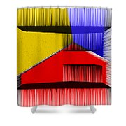3D Abstract 1 Shower Curtain by Angelina Vick