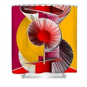 3D Abstract 18 Shower Curtain by Angelina Vick