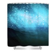 Aurora Borealis Shower Curtain by Setsiri Silapasuwanchai