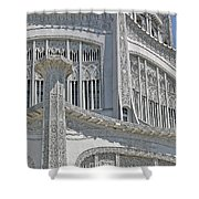 Bahai Temple Wilmette Shower Curtain by Rudy Umans