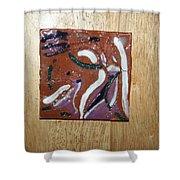 Dance - Tile Shower Curtain by Gloria Ssali