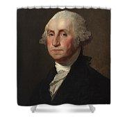 George Washington Shower Curtain by Gilbert Stuart