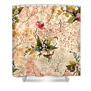 Marble End Paper Shower Curtain by William Kilburn