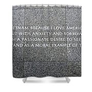 Martin Luther King Jr Memorial Shower Curtain by Allen Beatty