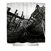 Old Abandoned Ships Shower Curtain by RicardMN Photography