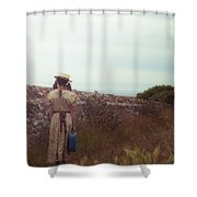 Refugee Girl Shower Curtain by Joana Kruse