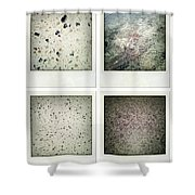 Textures Shower Curtain by Les Cunliffe