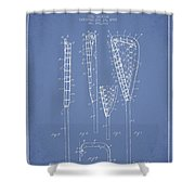 Vintage Lacrosse Stick Patent from 1908 Shower Curtain by Aged Pixel