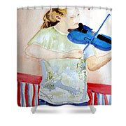 4th Of July Shower Curtain by Sandy McIntire