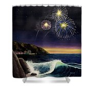 4th On The Shore Shower Curtain by Jack Malloch
