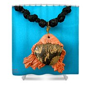 Aphrodite Melainis Necklace Shower Curtain by Augusta Stylianou