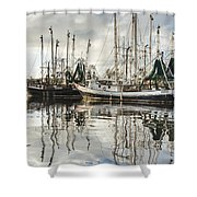 Bayou Labatre' Al Shrimp Boat Reflections Shower Curtain by Jay Blackburn