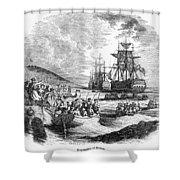 Boston: Evacuation, 1776 Shower Curtain by Granger
