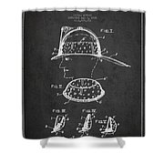 Firefighter Headgear Patent drawing from 1926 Shower Curtain by Aged Pixel